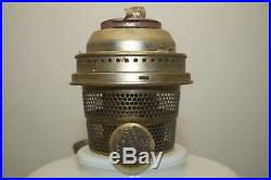 Vintage 1948 53 Aladdin White Pearlized Simplicity Kerosene Oil Table Lamp