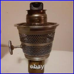 Vintage 40s Aladdin ALACITE MOONSTONE Glass Oil Lamp Model B Burner