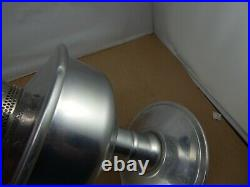 Vintage ALADDIN 23 Aluminum KEROSENE TABLE LAMP complete and working 1960's