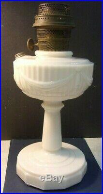 Vintage ALADDIN ALACITE TALL LINCOLN DRAPE oil lamp'crows feet' base