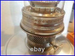 Vintage ALADDIN Aluminum Metal Kerosene Table Oil Lamp Model 23 Burner-Excellent