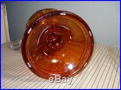 Vintage ALADDIN Amber Lincoln Drape Kerosene Oil Lamp #23 Dated 1981