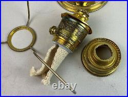 Vintage ALADDIN KEROSENE OIL LAMP MODEL 23 brass