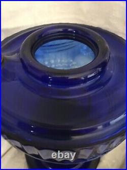 Vintage ALADDIN LINCOLN DRAPE LAMP COBALT Blue Tall 1940-49 MODEL B Original