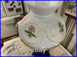 Vintage ALADDIN Lincoln Drape Oil Lamp With Shade, Burner, Chimney Cobalt Blue