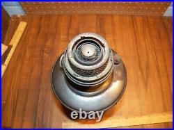 Vintage ALADDIN MANTEL LAMP CO. Model 12 Nickel Plated Kerosene Lamp