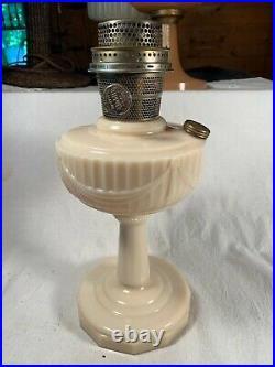Vintage ALADDIN Model B Alacite Lincoln Drape Kerosene Oil Lamp Table Lamp c1940