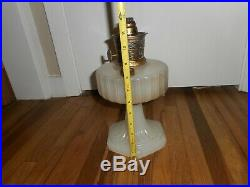 Vintage ALADDIN Moonstone Corinthian Kerosene Lamp