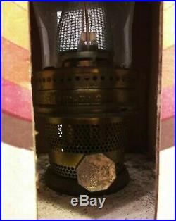 Vintage ALADDIN OIL KEROSENE LAMP #23 Glass Base Brass Burner NEW IN SEALED BOX