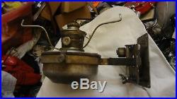 Vintage ALADDIN RAILROAD CABOOSE WALL BRACKET KEROSENE LAMP & BURNER LANTERN