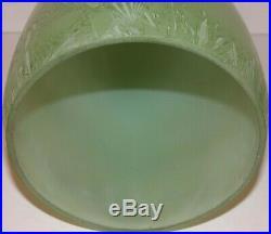 Vintage ALADDIN VASE LAMP Green Venetian Art Craft model 12 pot and straw finish