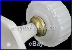 Vintage ALADDIN White Moonstone Corinthian Art Glass Kerosene Oil Lamp Model B