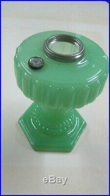 Vintage Aladdin-111 Cathedral Green Moonstone Lamp