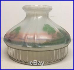 Vintage aladdin 601 s reverse painted log cabin lamp shade fits model 12 aloadofball Choice Image