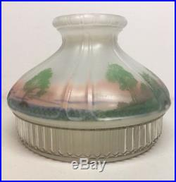 Vintage Aladdin 601-S Reverse Painted Log Cabin Lamp Shade Fits Model 12