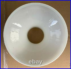 Vintage Aladdin 701 Glass 6 Panel White Opal 10 Fitter Oil Kerosene Lamp Shade