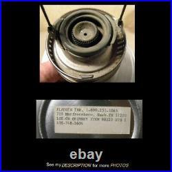 Vintage Aladdin Aluminum Kerosene Lamp Font No 21C Burner & Chimney unused