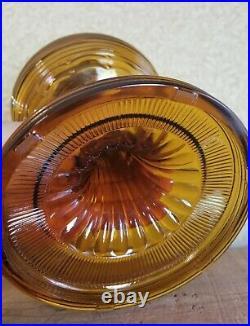 Vintage Aladdin Amber Beehive Kerosene Oil Lamp
