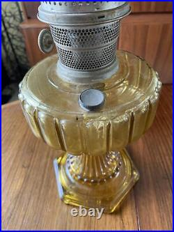 Vintage Aladdin Amber Color Lincoln Drape Lamp Model B 16 Inches Tall! Read