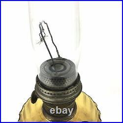 Vintage Aladdin Amber Glass Mantle Kerosene Lamp 24 Tall