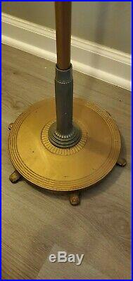 Vintage Aladdin B-281 Model B Stand Floor Lamp and Burner gray and gold