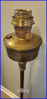 Vintage Aladdin B-466 Model B Stand Floor Lamp and Burner brass bronze