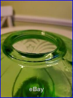 Vintage Aladdin B-47 Green Bell Stem Washington Drape Glass Lamp font only