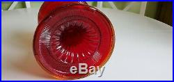 Vintage Aladdin B-83 Ruby Red Beehive Glass Lamp font only 2of2 read desc