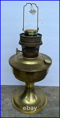 Vintage Aladdin Brass Kerosene Oil Lamp Model 23 with Gallery Wick Burner