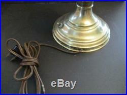 Vintage Aladdin Brass Model 9 Electrified Oil Lamp