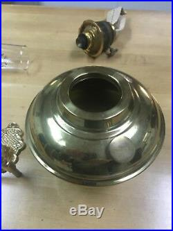 Vintage Aladdin Brass Wall Oil Lamp Model 23 With Bracket And Smoke Bell! VGC