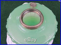 Vintage Aladdin Cathedral Green Moonstone Jadeite Green Oil Lamp Base