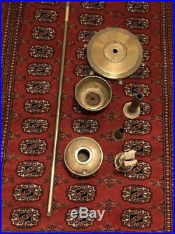 Vintage Aladdin Floor Lamp Oil Kerosene Mantle Banquet Brass
