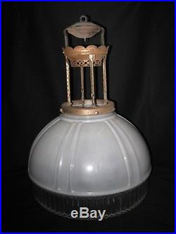 Vintage Aladdin Glass Lamp Shade with Hanger (circa 1930)