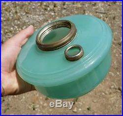 Vintage Aladdin Green Moonstone oil/kerosene Lamp Jadeite/Apple