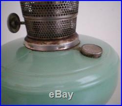 Vintage Aladdin Jadite Green Kerosene Oil Lamp Nu-Type Model B Mantle Lamp Co