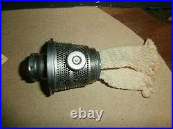 Vintage Aladdin Kerosene Coal Oil Model C Mantle Railroad Type Lamp w Chimney