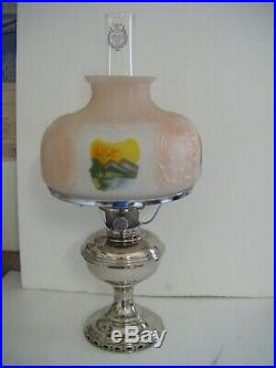 Vintage Aladdin Kerosene Model 11 Lamp -nickel Finish -1922 To 1928-very Nice