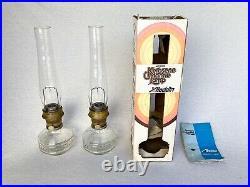 Vintage Aladdin Kerosene Model 23 Colonial Squares Set Withbox