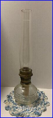 Vintage Aladdin Kerosene Oil Lamp Model 23 With 12 Signature Chimney Globe