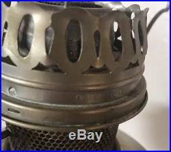 Vintage Aladdin Kerosene Oil Lamp With #9 Burner Red Glass Shade
