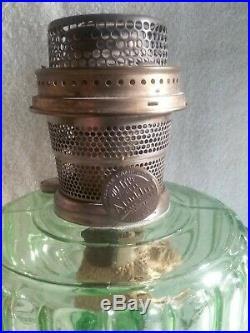 Vintage Aladdin Lamp Corinthian B-102 1935-1936 Green Nu-Type model B Burner