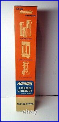 Vintage Aladdin Lamp Loxon (5) Mantles & 1 Extra Long Chimney Original Boxes Lot