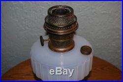 Vintage Aladdin Lamp Model B Corinthian White Moonstone B-114 1935-1936, Brass