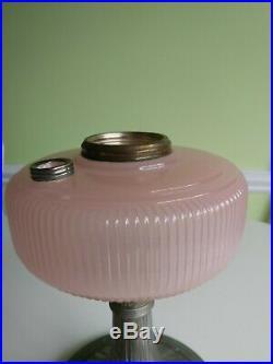 Vintage Aladdin Lamp Rose Moonstone Queen 1937-1939, B-98 No chips or Cracks