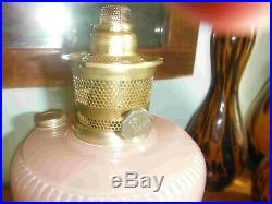 Vintage Aladdin Lamp, Vertique, Rose Moonstone, B-87 withBurner