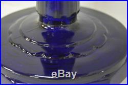 Vintage Aladdin Lincoln Drape Cobalt Blue Kerosene Oil Lamp Lantern Model B76