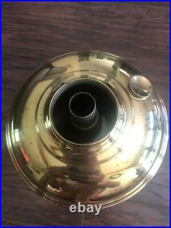 Vintage Aladdin Model 11 Brass Plated Kerosene Oil Mantle Lamp