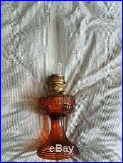 Vintage Aladdin Model 23 Kerosene Lamp with Mantle in Amber Color