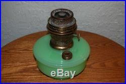 Vintage Aladdin Model B Bracket Lamp, Glass Font Green Moonstone 1936-1937